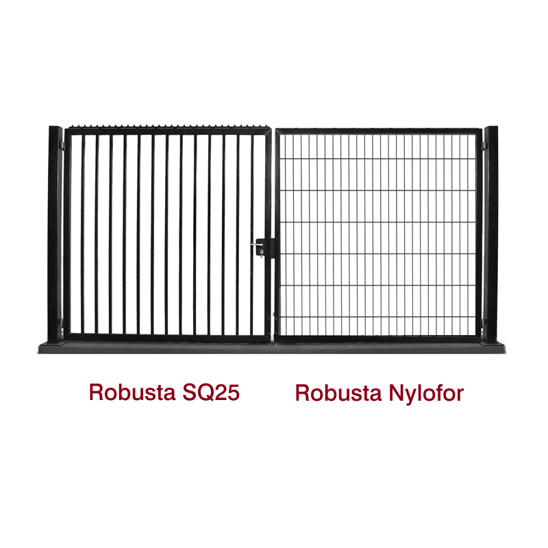 Draaipoorten Robusta Nylofor en SQ25