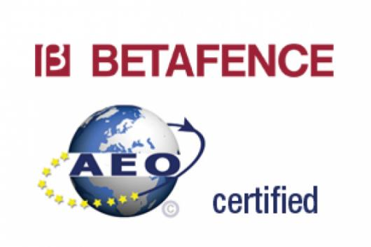 BETAFENCE BELGIUM N.V. HAS OBTAINED THE AEO CERTIFICATE