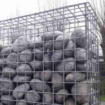 Gabion stonewall stonefence